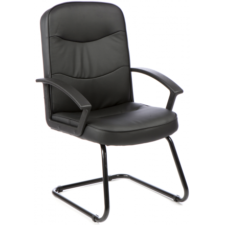 Harley Leather Cantilever Office Chair