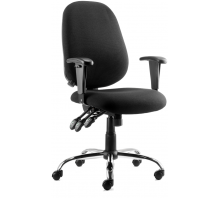 Lisbon High Back Fabric Task Operator Chair with Arms