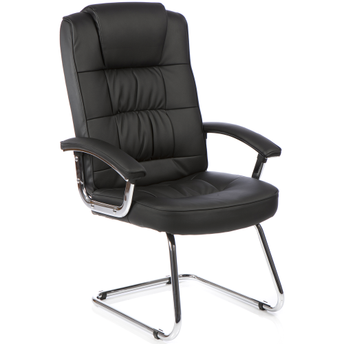 Moore Leather Deluxe Cantilever Chair with Arms