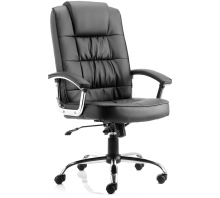 Moore Deluxe Leather High Back Executive Chair With Arms
