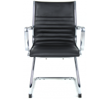 Ritz Bonded Leather Cantilever Visitor Chair with Arms