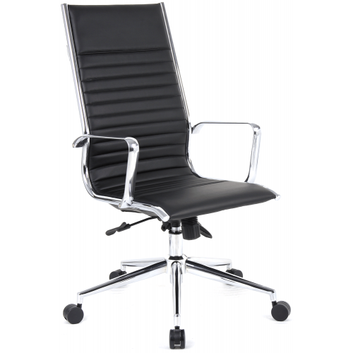 Ritz High Back Leather Executive Chair with Arms