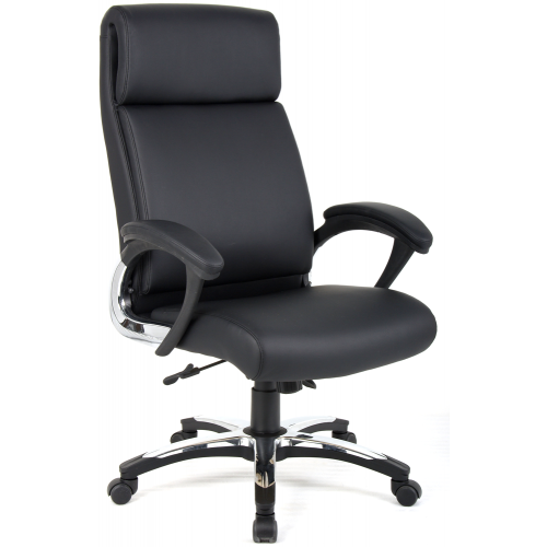 Romeo Folding Leather High Back Executive Chair with Arms