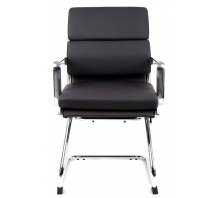 Savoy Bonded Leather Cantilever Visitor Chair with Arms