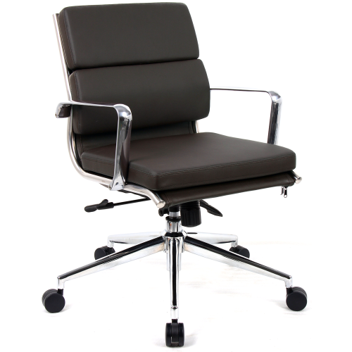 Savoy Medium Back Bonded Leather Executive Chair with Arms