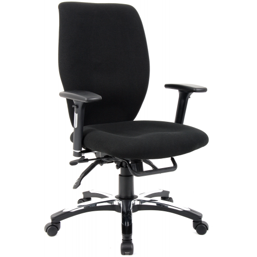 Sierra High Back Leather Executive Chair with Arms