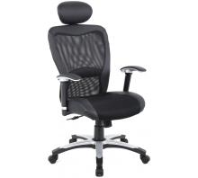 Victor II Mesh High Back Executive Leather Chair with Arms