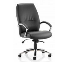 Dune High Back Bonded Leather Executive Chair with Arms