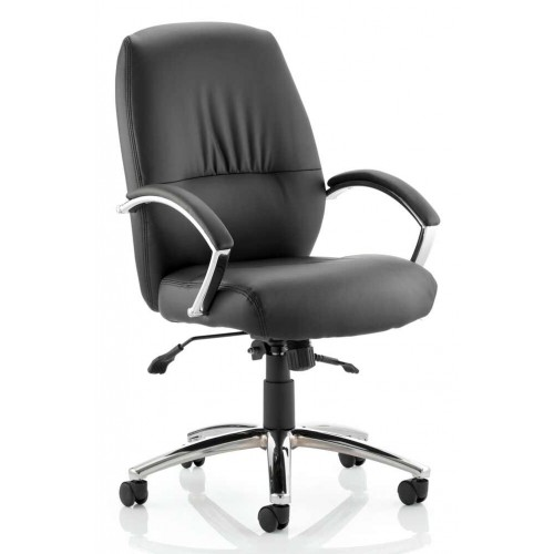 Dune Medium Back Bonded Leather Executive Chair with Arms