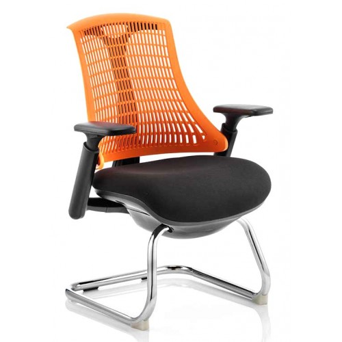 Flex Medium Back Visitor Cantilever Chair with Arms