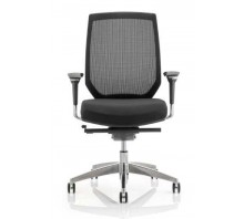 Midas Medium Mesh Back Fabric Task Operator Chair with Arms
