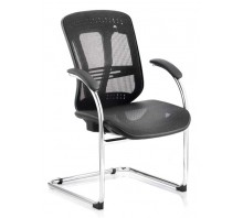 Mirage II Mesh Cantilever Visitors Chair with Arms