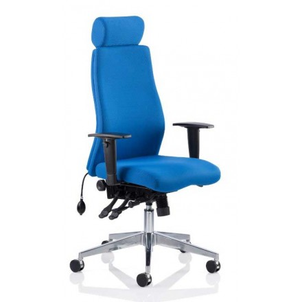 Onyx Ergo Posture Bonded Fabric Chair with Arms
