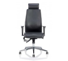 Onyx Ergo Posture Bonded Leather Chair with Arms