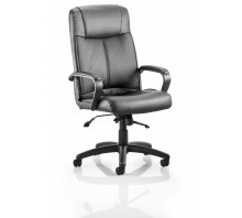 Plaza High Back Bonded Leather Executive Chair with Arms
