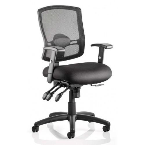 Portland III Mesh Back Task Operator Chair with Arms