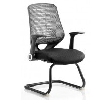 Relay Mesh Back Cantilever Chair with Arms