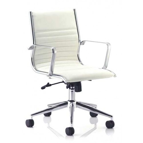 Ritz Medium Back Leather Executive Chair with Arms