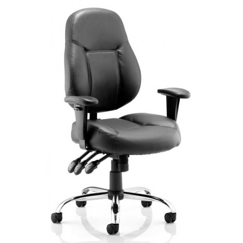 Storm Medium Back Bonded Leather Task Operator Chair with Arms