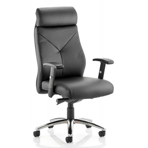 Troy High Back Bonded Leather Task Operator Chair with Arms