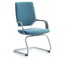 Xenon Leather Cantilever Visitor Chair with Arms