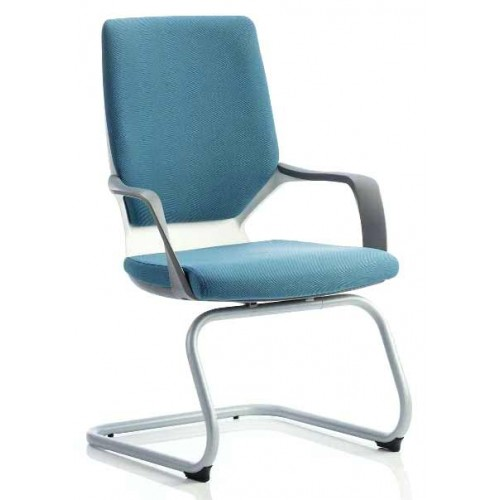 Xenon Fabric Cantilever Visitor Chair with Arms