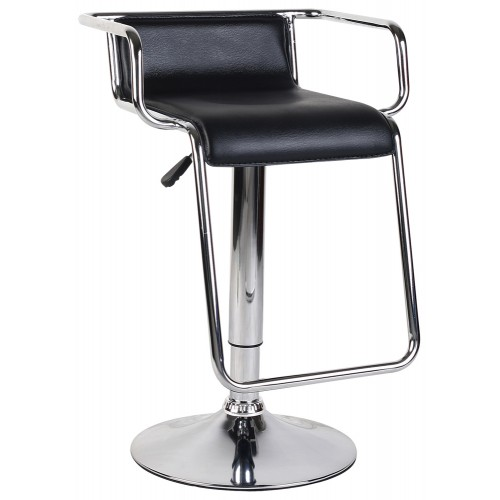 Leather Effect Adjustable Barstool (set of 2)