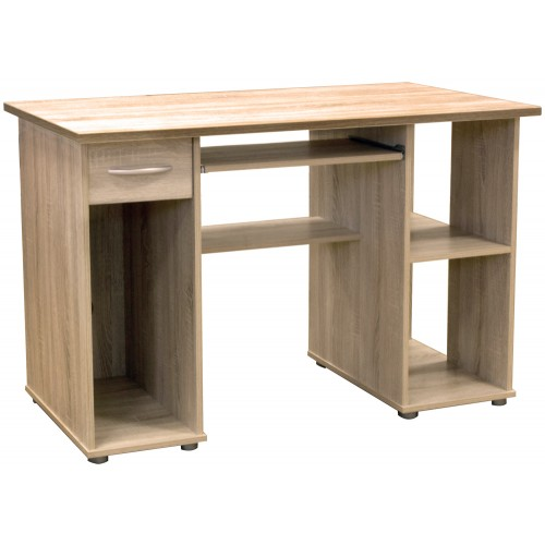 Dual Pedestal Computer Workstation - Woodland