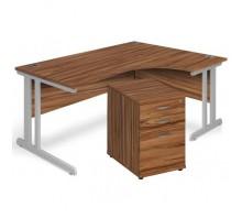 Aspire Ergonomic Desk & Pedestal Bundle