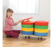 Rainbow Circular Cushions & Donut Trolley Set of 32