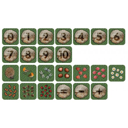 Natural World Counting Mini Carpets Indoor / Outdoor