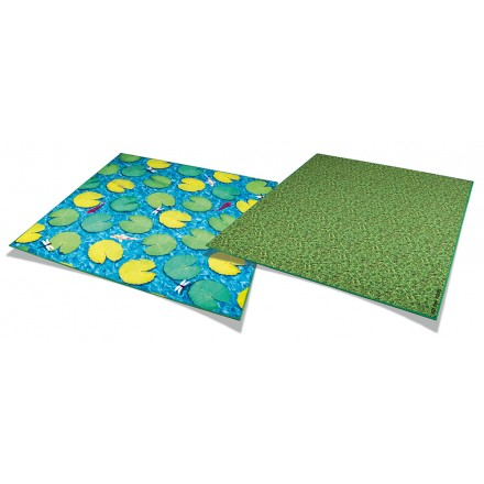 Natural World Grass and Lily Pads Double Sided Carpet