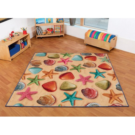 Natural World Ocean and Beach Double Sided Carpet