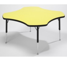 Tuf-Top Height Adjustable Clover Table