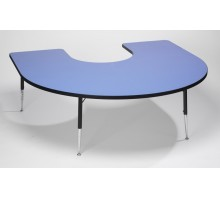 Tuf-Top Height Adjustable Horseshoe Table