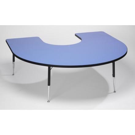 Tuf-Top Height Adjustable Horseshoe Table