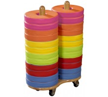 Eco-Tech1 Donut Multi-Seat Trolleys including 24 Bi-Colour Cushions