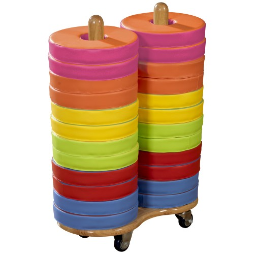 Eco-Tech1 Donut Multi-Seat Trolleys including 24 Bi-Colour Cushions