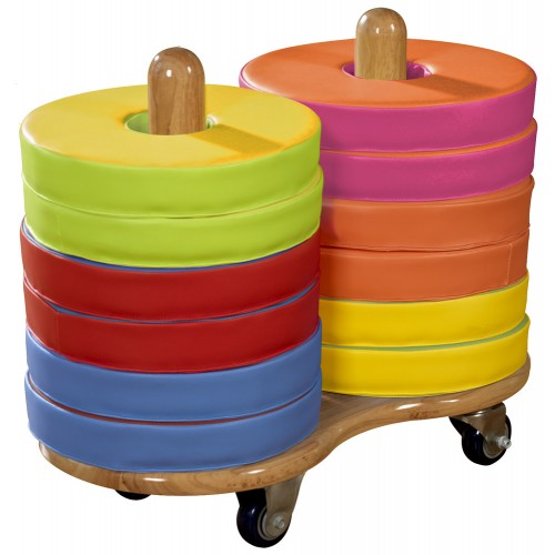 Eco-Tech1 Donut Multi-Seat Trolleys including 12 Bi-Colour Cushions