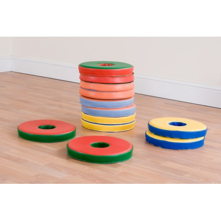 12 Bi-Colour Donut Cushions