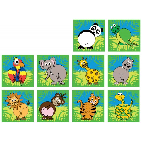 Zoo Animals Mini Placement Carpets