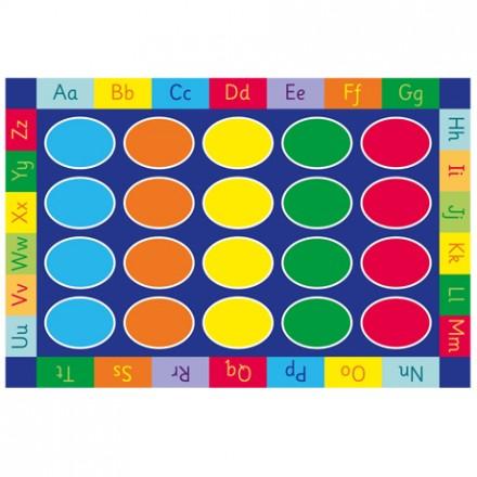 Rainbow ABC Rectangle Carpet