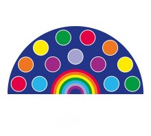 Rainbow™ Semi-Circle Carpet