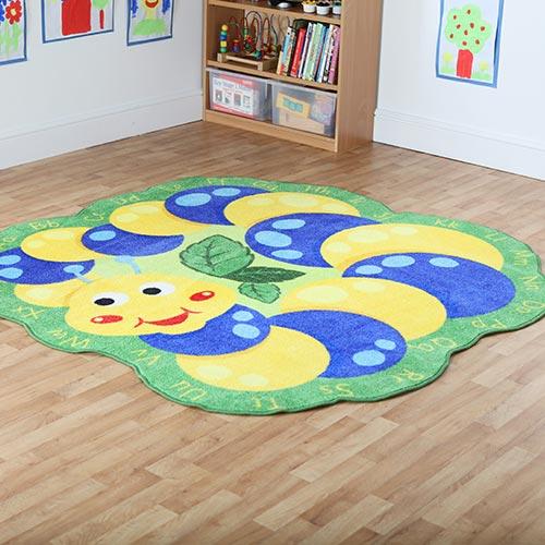 Back to Nature™ Giant Alphabet Caterpillar Shaped Carpet