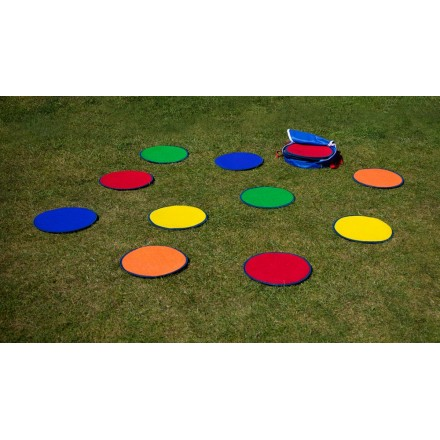 Rainbow Circle Mats with Free holdall Set of 30