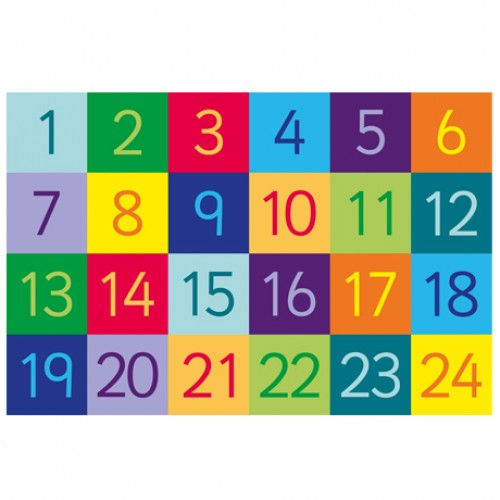Rainbow 1-24 Numbers Carpet