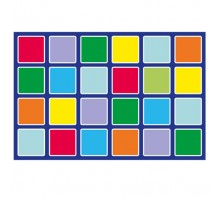 Rainbow Rectangle Placement Outdoor Mat
