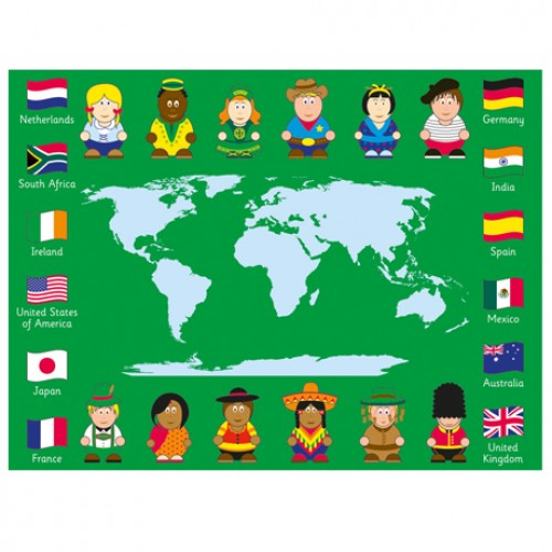 Children of the World™ Map Outdoor Play™ Mat