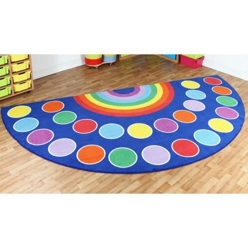 Rainbow Semi-Circle Placement Carpet