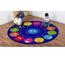 Emotions Interactive Circular Carpet